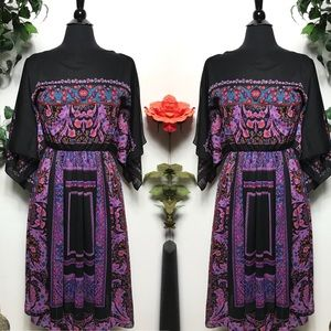 Vintage Floral Black Maxi Sheer Dress Cover Up